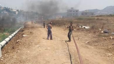 حريق في خراج برقايل والقرقف والعمل جار على اخماده