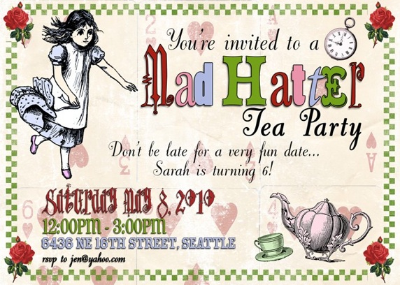Mad Hatter Tea Party Invitations Decorations Art Activites Gameore