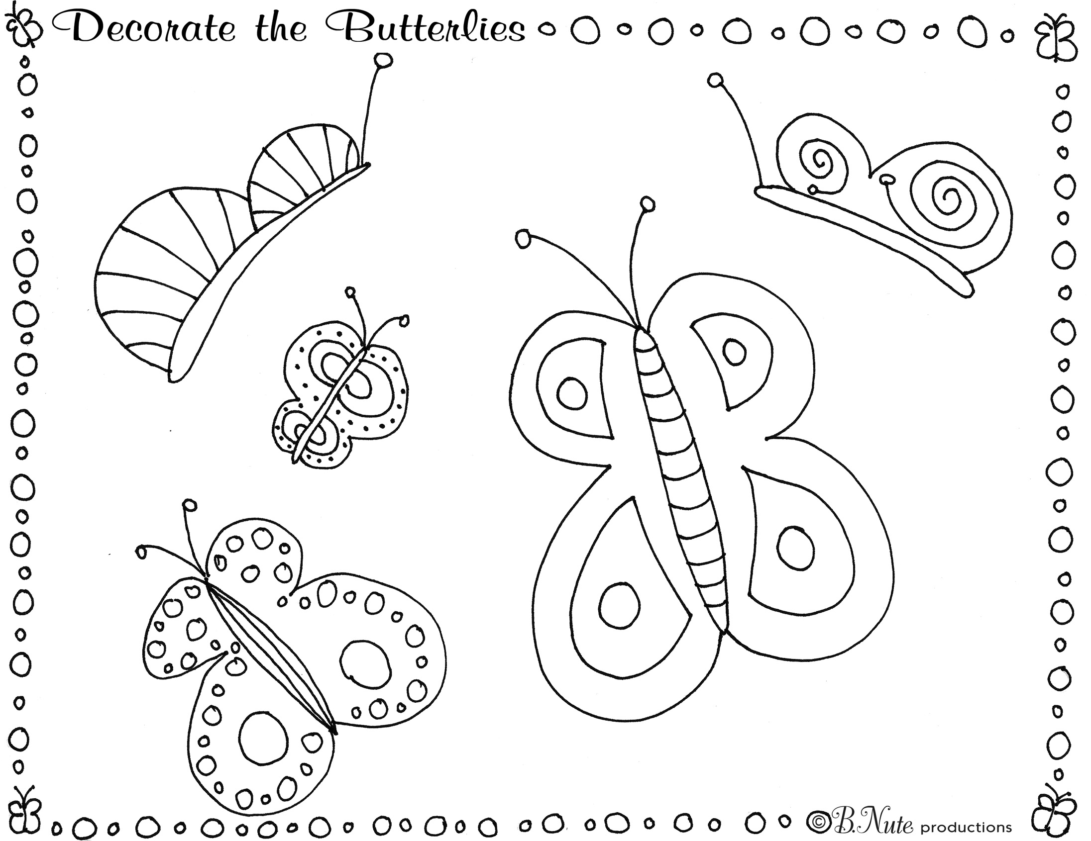 Bnute Productions Butterfly Party Game And Art Ideas