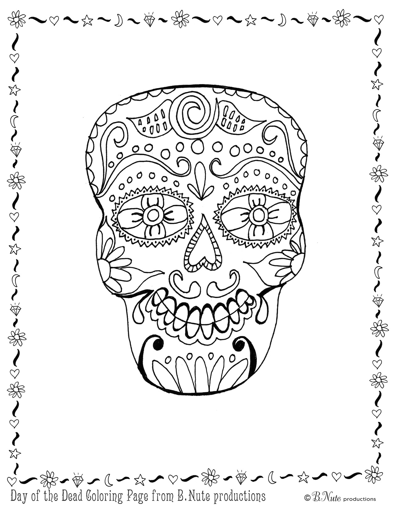 Free Worksheet Dia De Los Muertos Worksheets day of the dead coloring pages best for kids free pages