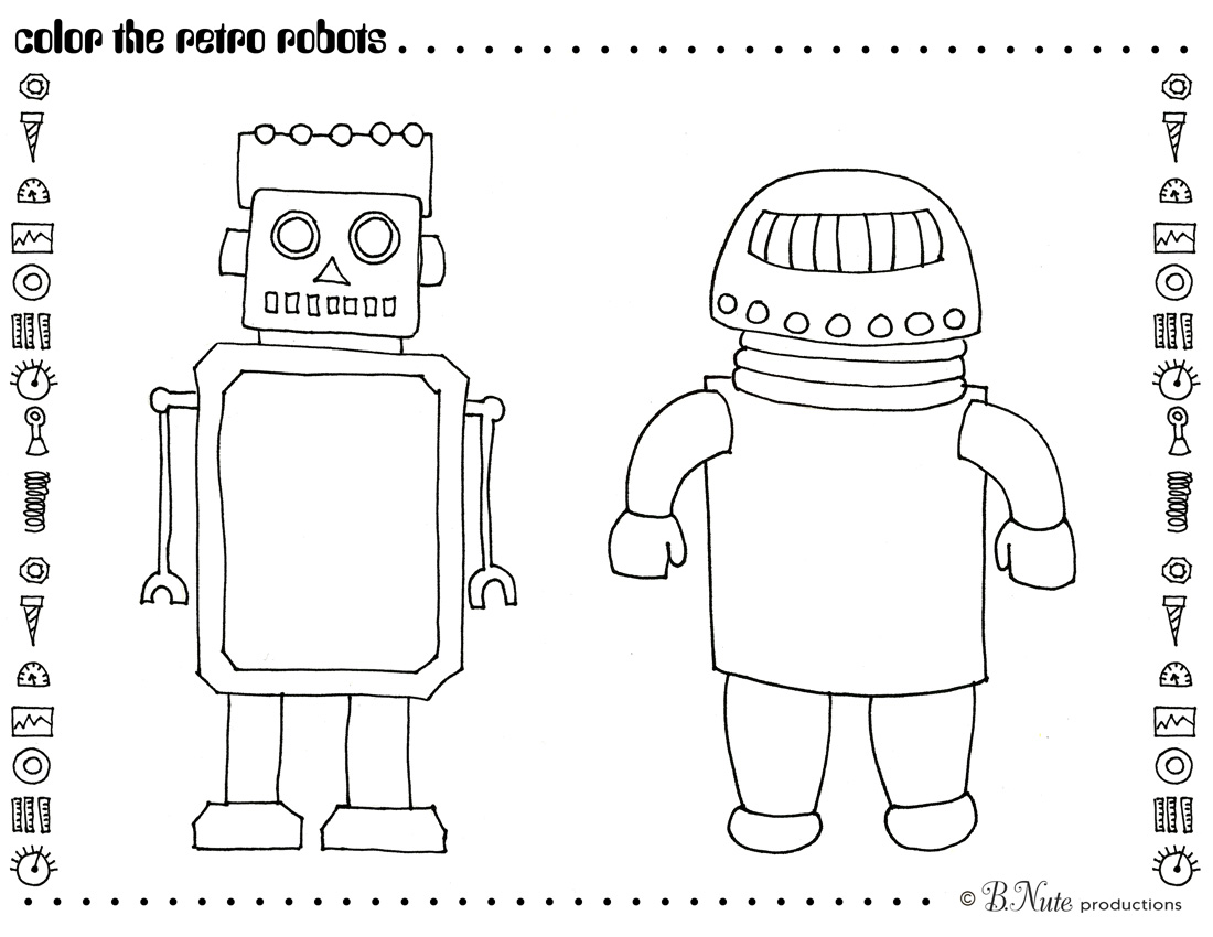 Bnute Productions Robot Party Free Printable Art