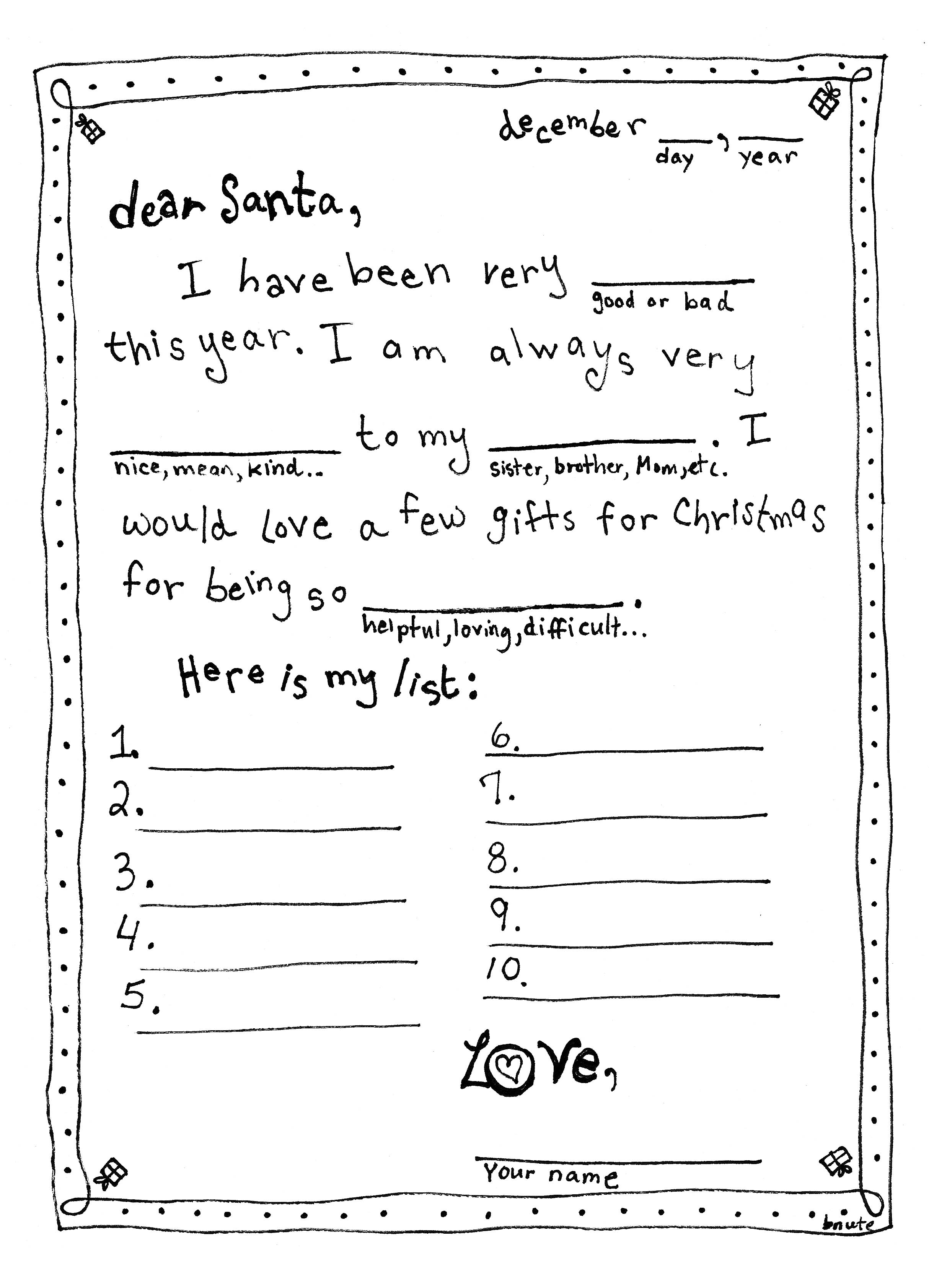 Bnute Productions Letter To Santa