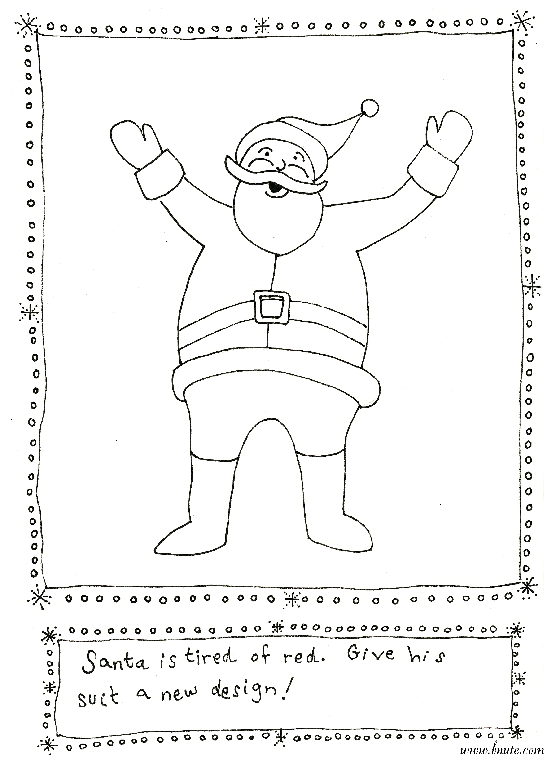 Bnute Productions More Christmas Printable Art Activities