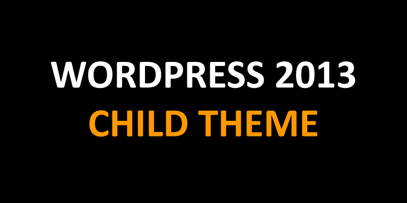 WordPress 2013 Child Theme