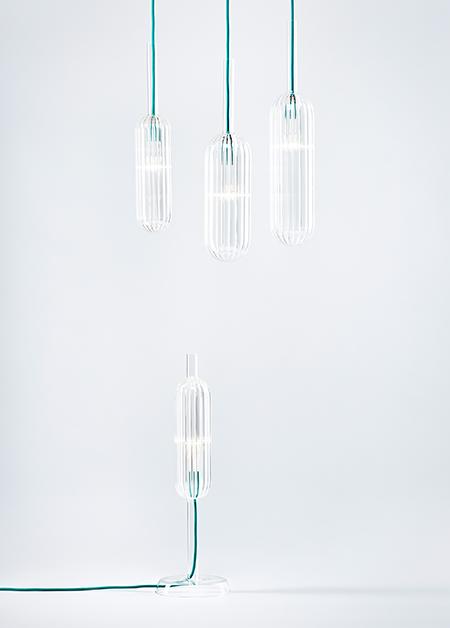 Reed - set stolních a závěsných lamp