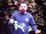 Mike McGuigan with some hops from the North West of England.