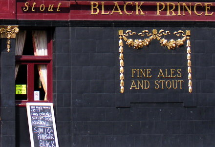 A pub in Vauxhall advertising fine ales and stout
