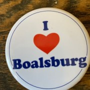 I Heart Boalsburg button