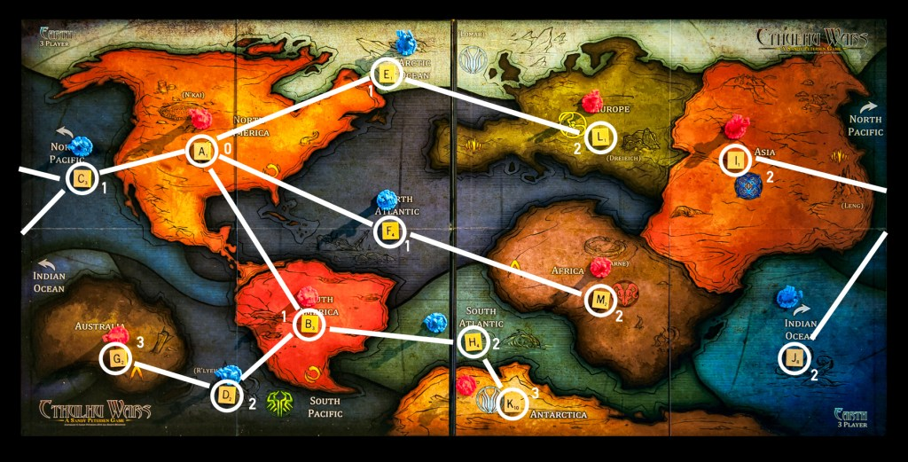 Graph analysis of the cthulhu wars maps board game analysis the average distance to other locations from north america is then the sum of the length of all paths divided by the number of other locations gumiabroncs Gallery