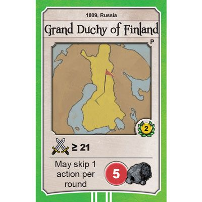 Nations Grand Duchy of Finland promo card