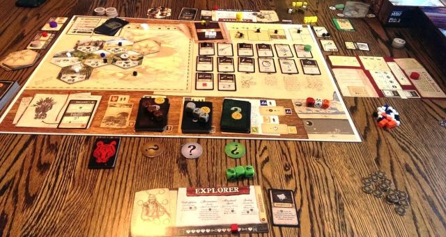 Robinson Crusoe Board Game Review Robinson Crusoe Adventures on the Cursed Island - Game Board