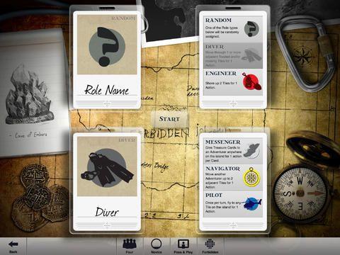 Forbidden Island iOS - Roles
