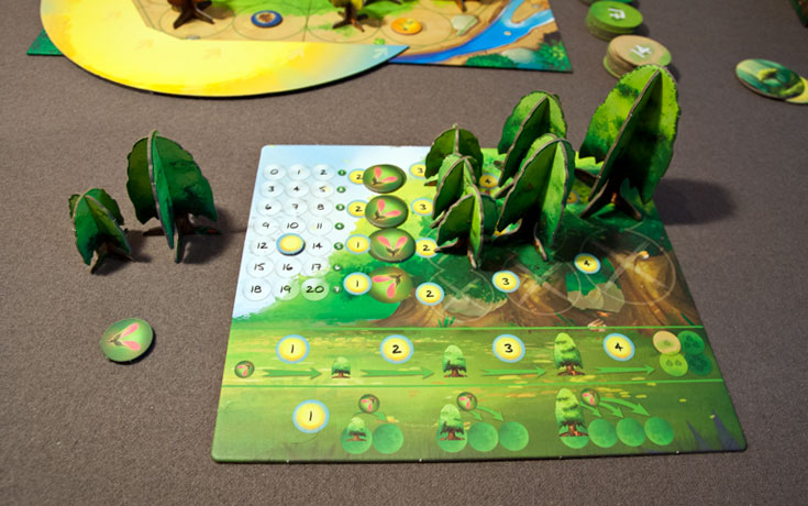 Photosynthesis Review   Board Game Quest The player boards not only house your trees  but explain all the costs