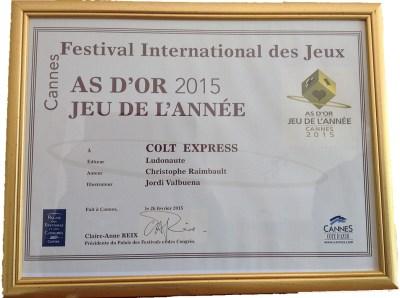 Colt Express a castigat premiul As d-Or-Jeu de l-Annee 2015_2