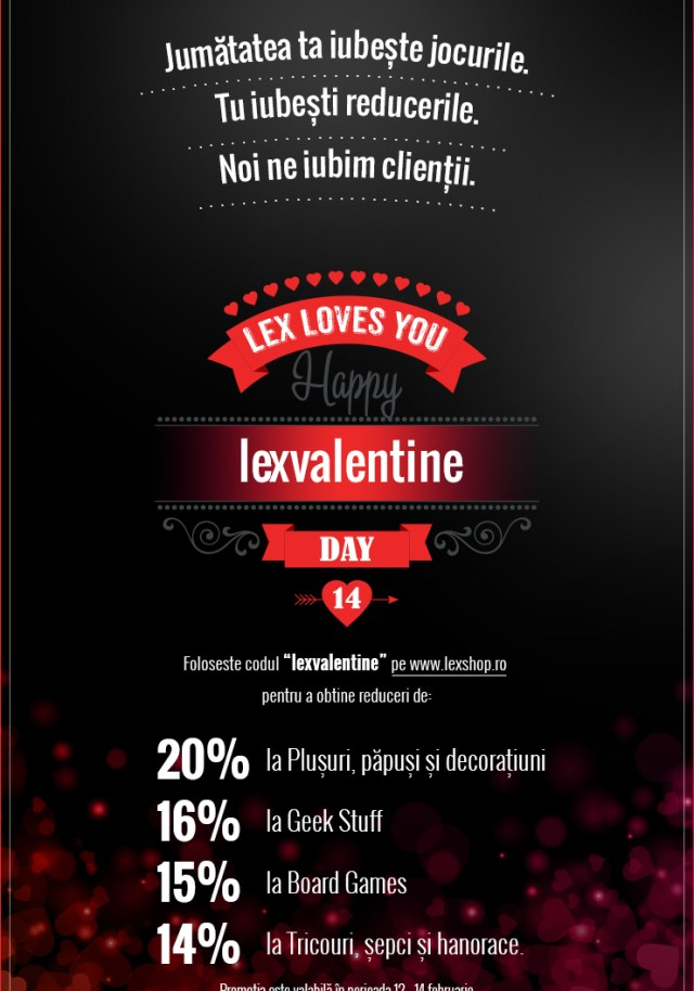 Lex Loves You! Reduceri de Valentine's Day