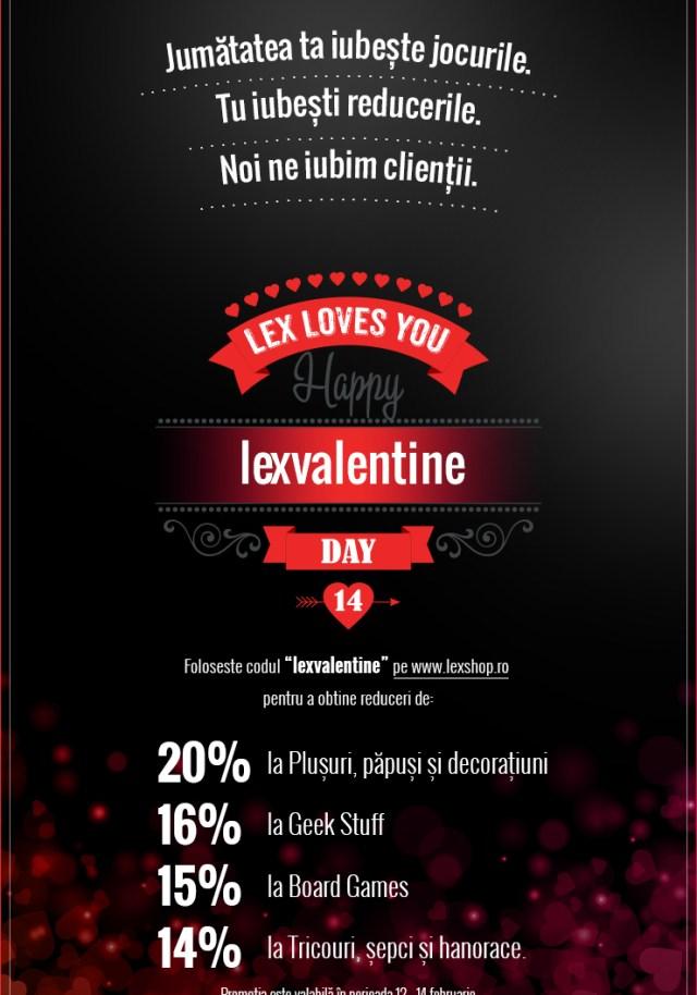 Lex Loves You! Reduceri de Valentine's Day