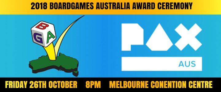 Boardgames Australia 2018 Award Ceremony