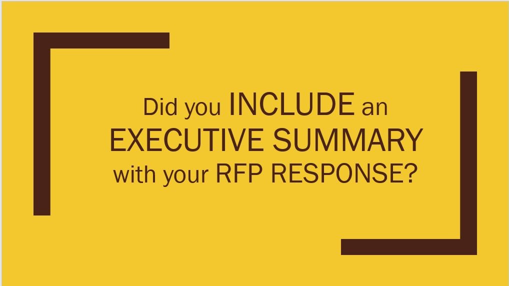 respond to rfp template - rfp tips for the executive summary boardroom metrics