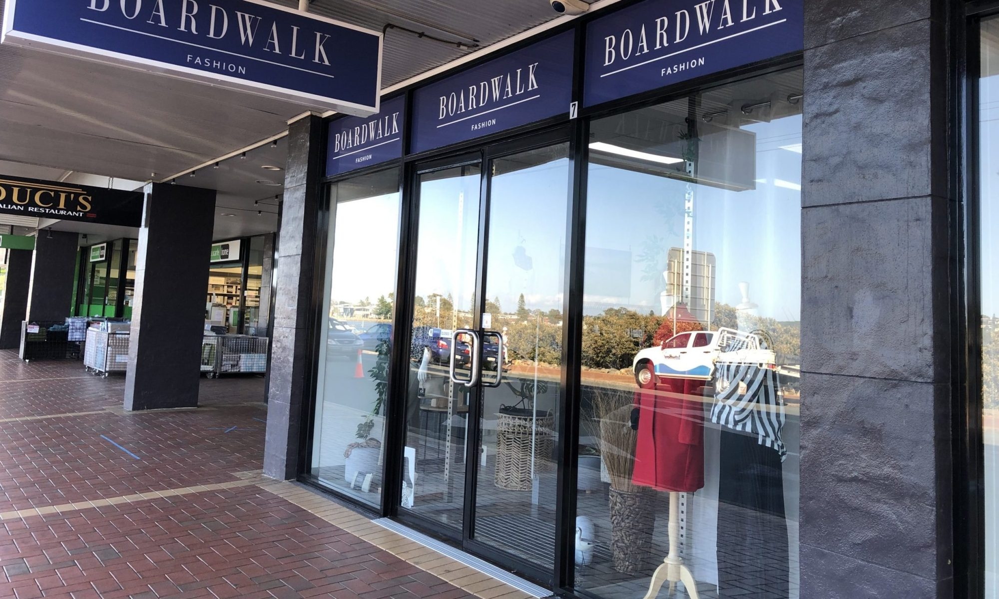 Boardwalk Fashion, the destination boutique for quality clothing.
