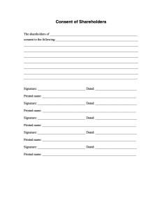 Shareholders Consent Form