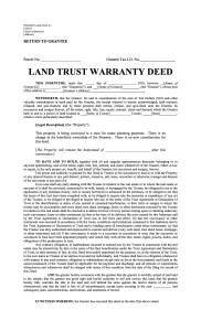 land trust deed template