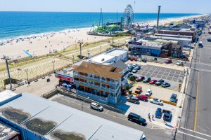 Aeriel View 2 of New Jersey Oceanfront Hotel | Bordwalk Charlee Hotel
