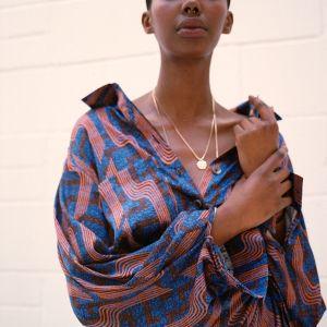 Linear Print Shirt by Ankara On Brand