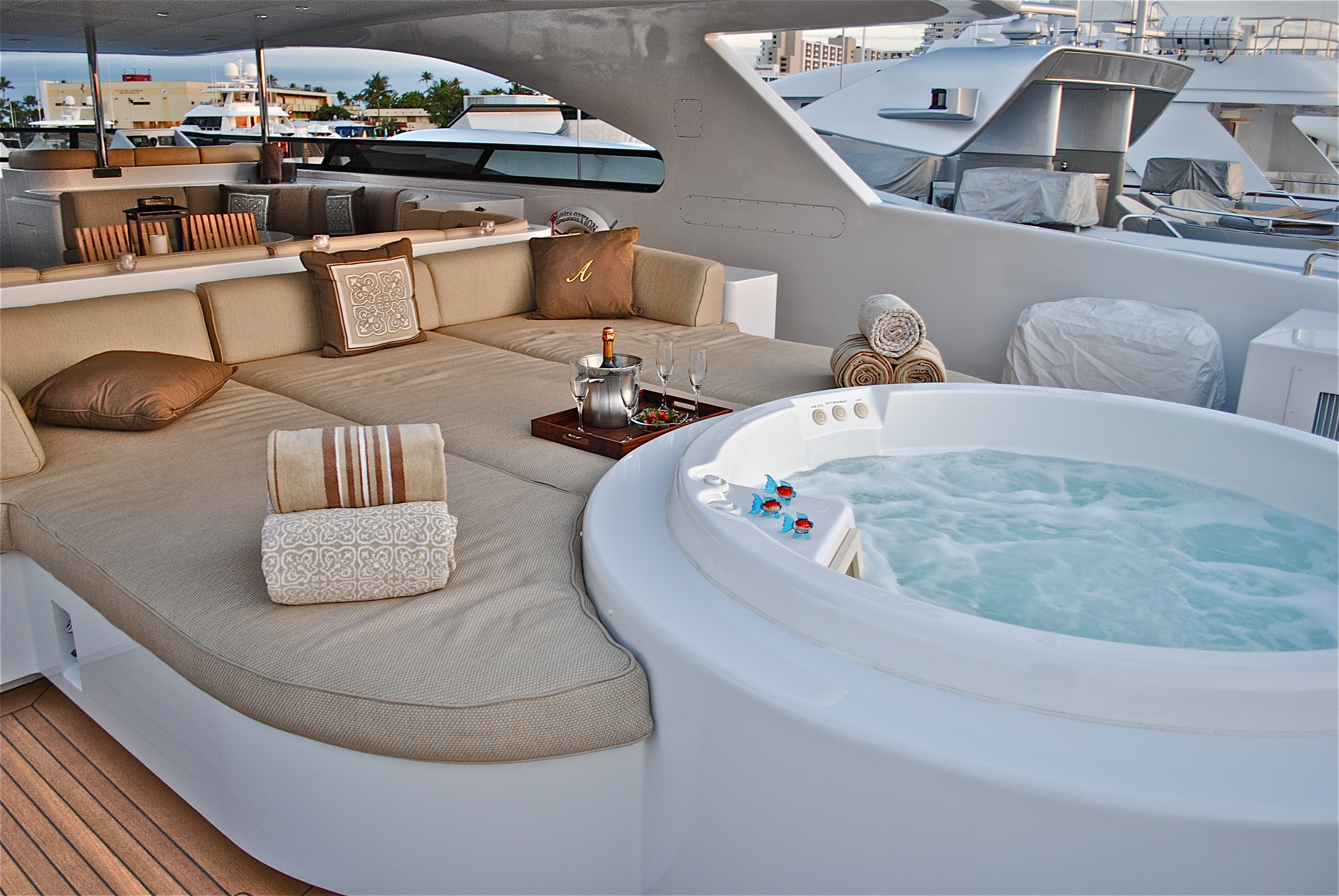 Our Charter Brokers Onboard Luxury Yacht AQUASITION