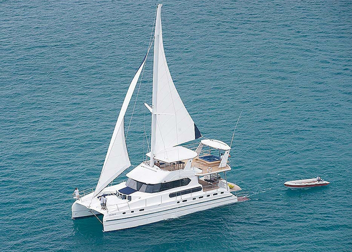Luxury Crewed Catamaran Jacuzzi Cat Day Charter 50 60