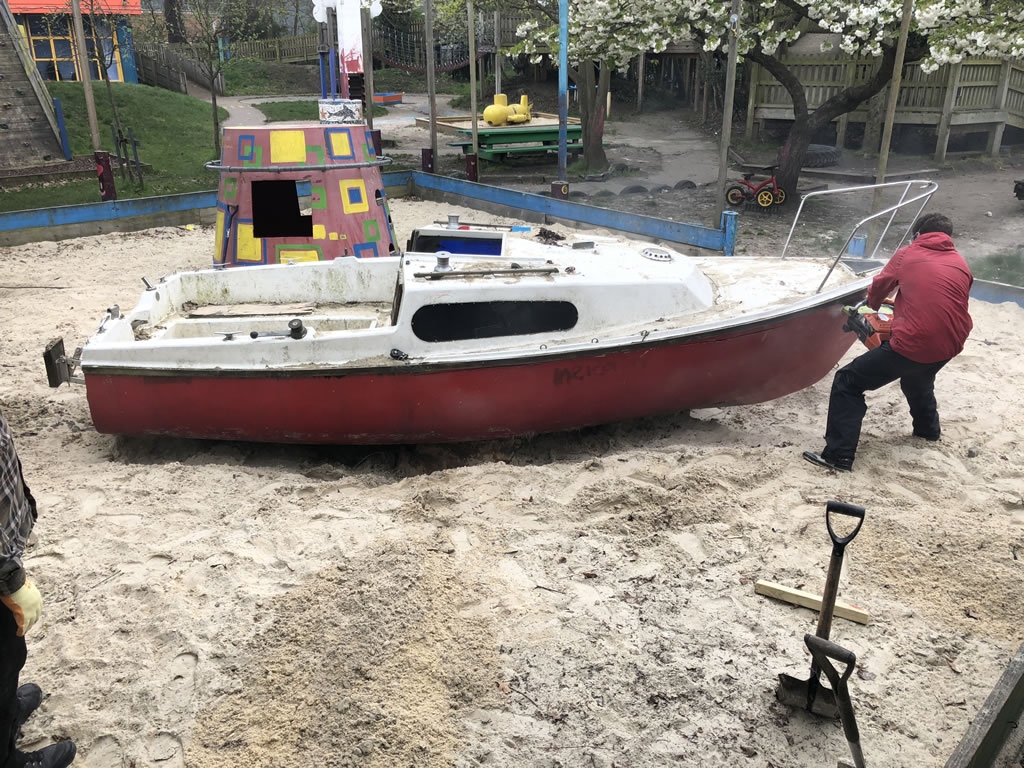Yacht in a Sandpit Scrap London
