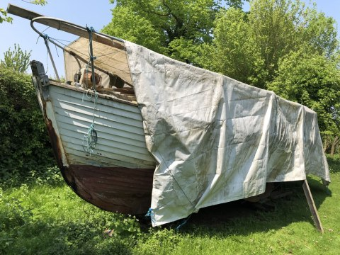 The Only Way is Essex: Scrap Yacht in an Orchard - Boat On Arrival
