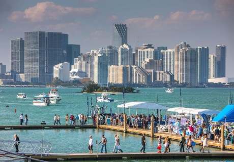 Extra traffic from boat show season on your dealer website means chat and text are a huge lead booster. Photo: Miami Boat Show