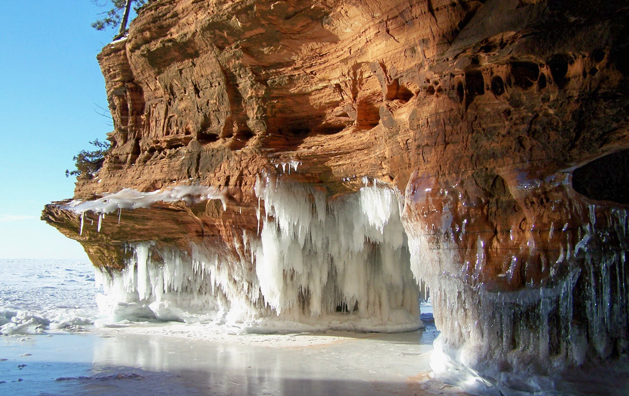 Frozen Sea Caves