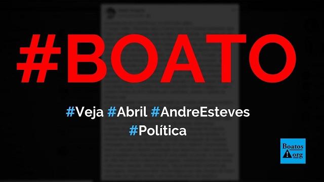André Esteves, presidente do BTG, está por trás da revista Veja, da Editora Abril, diz boato (Foto: Reprodução/Facebook)