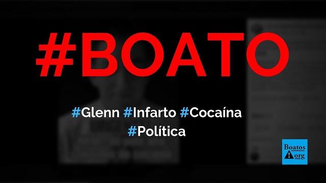 Glenn Greenwald tem infarto e é internado às pressas após overdose de cocaína, diz boato (Foto: Reprodução/Facebook)