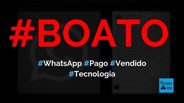 Varun Pulyani, diretor do WhatsApp, avisou que aplicativo foi vendido e será pago, diz boato (Foto: Reprodução/Facebook)