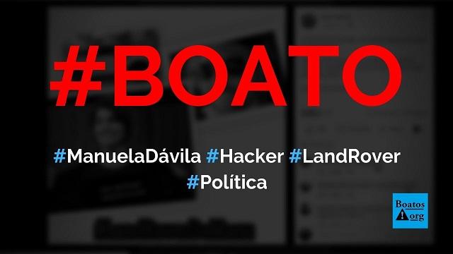 Manuela D'Ávila é dona da Land Rover encontrada com hacker Walter Delgatti, diz boato (Foto: Reprodução/Facebook)