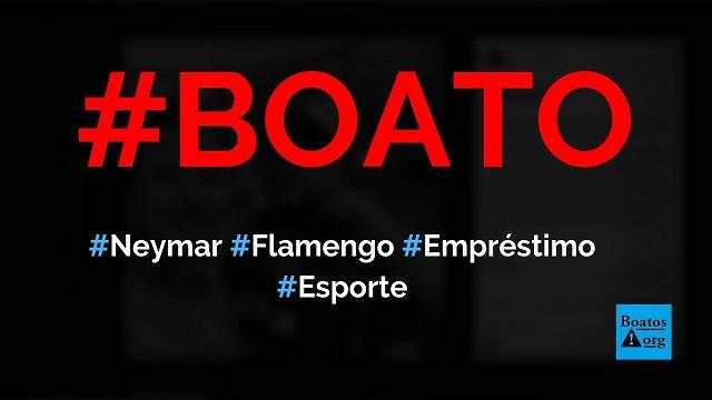 Neymar pode ser emprestado ao Flamengo até o fim do ano pelo PSG, diz boato (Foto: Reprodução/Facebook)