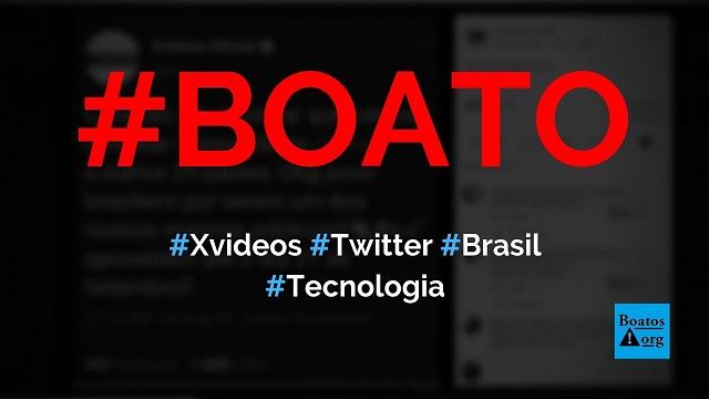 Xvideos anuncia no Twitter @Xv que sairá do ar no Brasil em setembro, diz boato (Foto: Reprodução/Facebook)