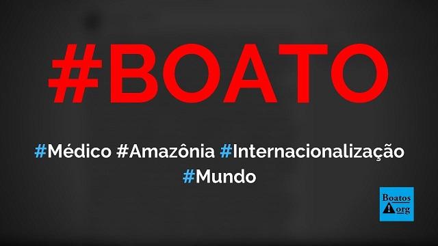 Médico brasileiro dá show nos EUA ao falar sobre a internacionalização da Amazônia, diz boato (Foto: Reprodução/Facebook)