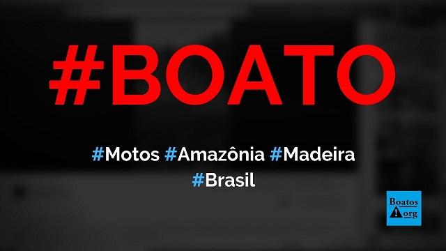 Motos da Bolívia, Peru e Venezuela carregam toras de madeira da Amazônia brasileira, diz boato (Foto: Reprodução/Facebook)