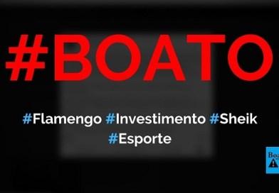 Sheik árabe vai investir R$ 5 bilhões no Flamengo e construir estádio no Brasil, diz boato (Foto: Reprodução/Facebook)