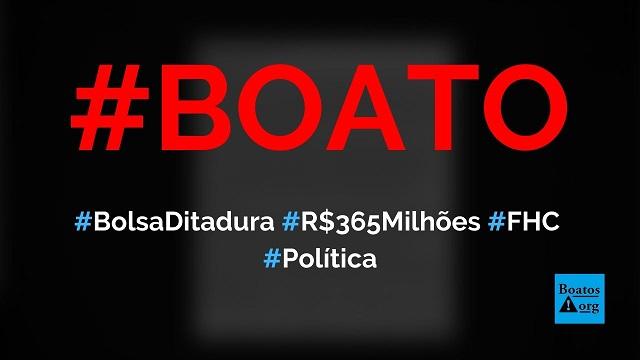 Bolsa Ditadura custa R$ 365 milhões por mês ao governo, mas Bolsonaro mandou cancelar, diz boato (Foto: Reprodução/Facebook)