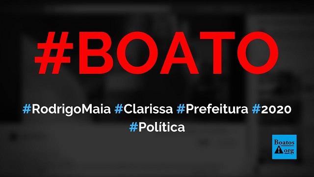 Rodrigo Maia e Clarissa Garotinho lançaram candidatura à Prefeitura do Rio de Janeiro em 2020, diz boato (Foto: Reprodução/Facebook)