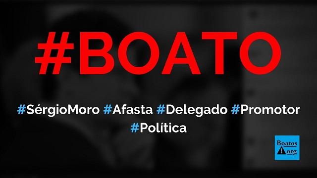 Moro afastou promotor de caso Flávio Bolsonaro e delegado de caso Marielle, diz boato (Foto: Reprodução/Facebook)