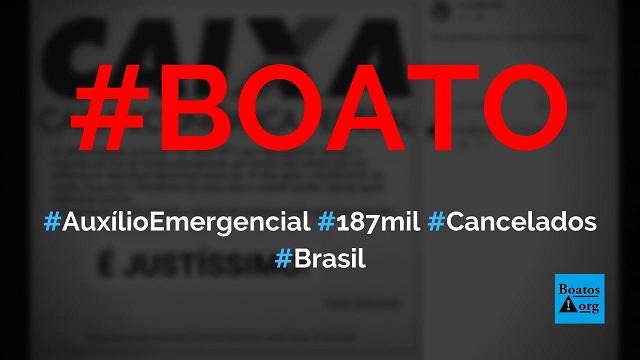 Caixa bloqueou Auxílio Emergencial de 187 mil pessoas que compraram eletrônicos após receber benefício, diz boato (Foto: Reprodução/Facebook)