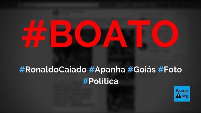 Ronaldo Caiado apanhou de população revoltada com fechamento do comércio em Goiás, diz boato (Foto: Reprodução/Facebook)