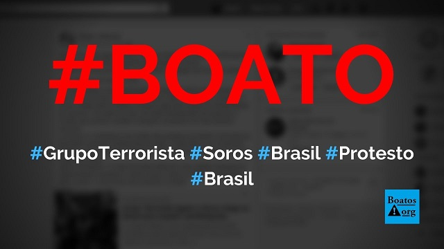 Grupo terrorista Antifa, de George Soros, chega ao Brasil para impedir manifestações pró-Bolsonaro, diz boato (Foto: Reprodução/Facebook)