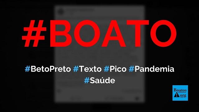 Beto Preto, secretário de Saúde do Paraná, escreve mensagem sobre pico da pandemia, diz boato (Foto: Reprodução/Facebook)