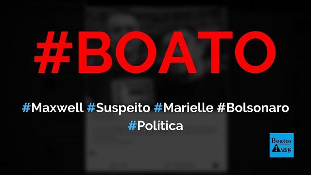 Bombeiro Maxwell Simões Corrêa, suspeito no caso Marielle, posa em foto com Bolsonaro, diz boato (Foto: Reprodução/Facebook)